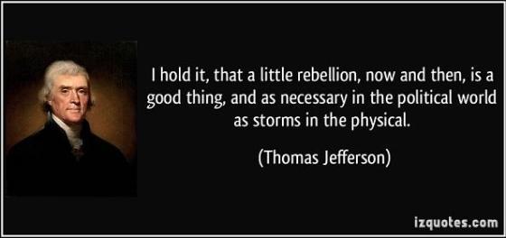 Thomas Jefferson - a little rebellion