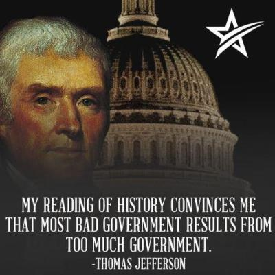 Thomas Jefferson - too much government