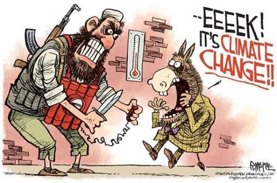 Climate change terrorist