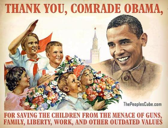 Obama - Thank you comrade