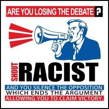 Losing Debate - Shout Racist