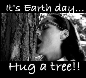 Earth Day hug a tree