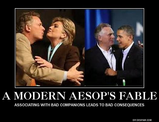 Aesop's Fable - McAuliffe Hillary Obama