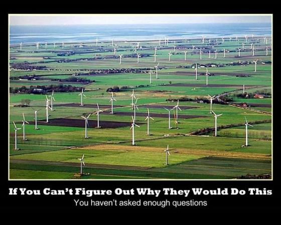Wind farm landscape