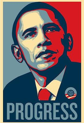 Obama - Progress poster