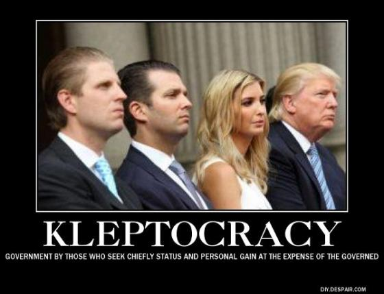 Image result for Trump kleptocracy