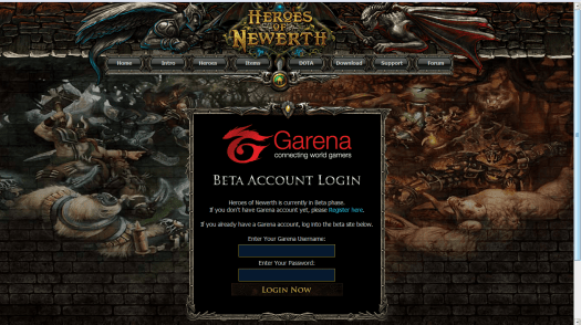 How to Play Heroes of Newearth (HoN) via Garena - Strife of Cloud