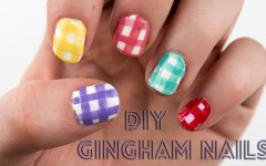 Nail Designs Gingham