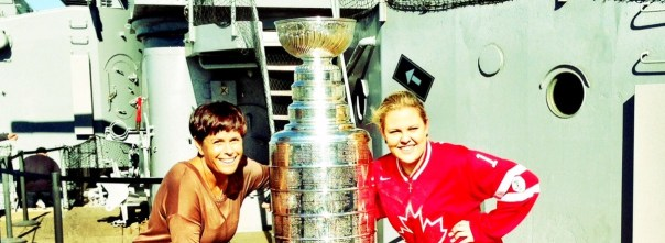 My Mum & I with the Stanley cup