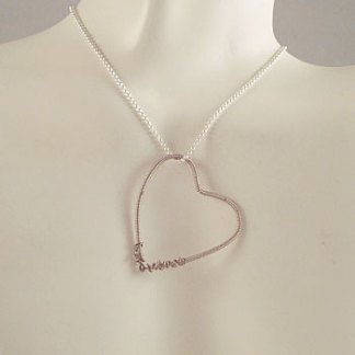 Guitar String Heart Pendant