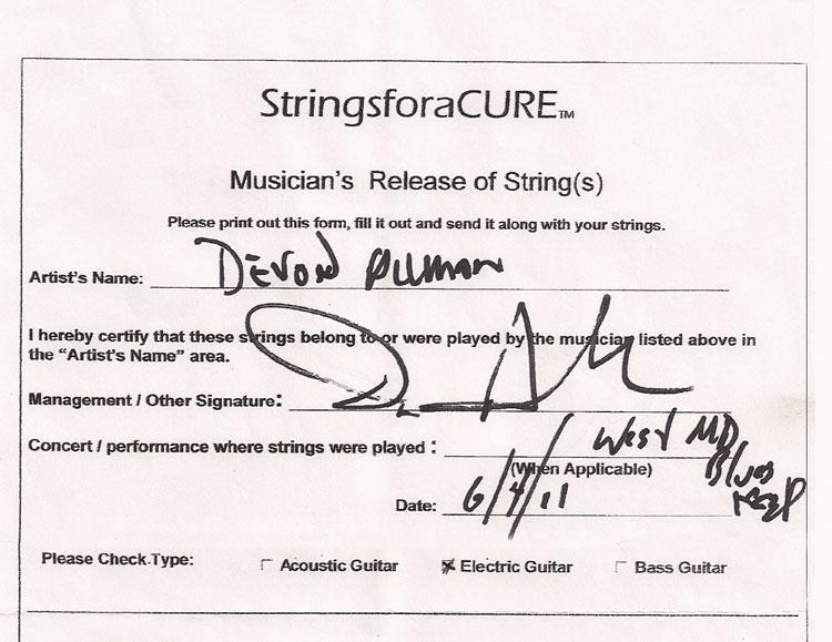 Gregg And Devon Allman Guitar String Pendant