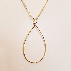 Guitar String Teardrop Pendant