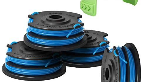 Primeswift Weed Eater Replacement Parts Compatible with Black/&Decker AF-100 GH600 GH900,Replacement RC-100-P Spools Caps/&Springs and 30ft 0.065 String Trimmer Line, 10 Spools+2 Cap+2 Spring