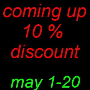 Waiting discount in May