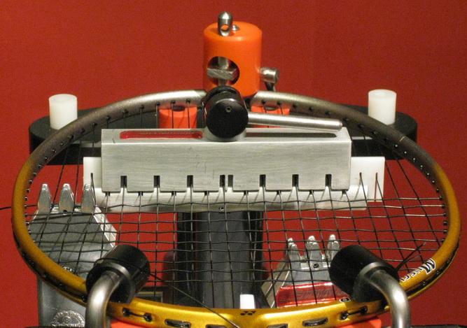 Dwars-bespanapparaat voor badminton