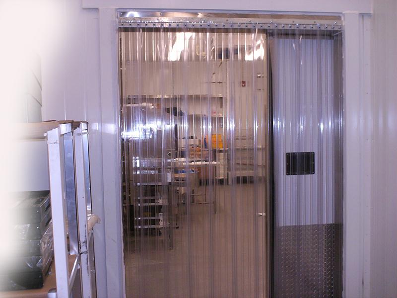 cooler and freezer strip doors strip