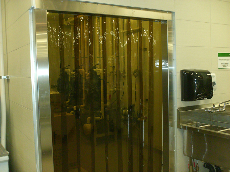 Cooler And Freezer Strip Doors