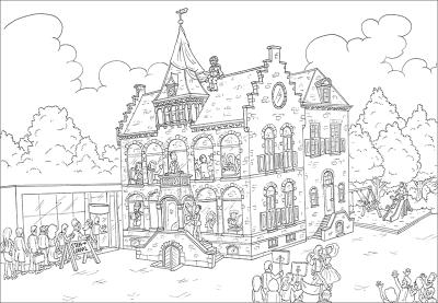 kleurplaat Veendam