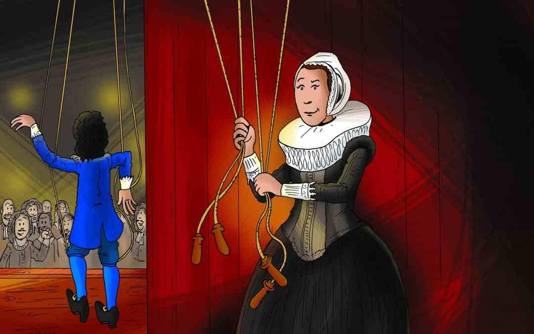Illustratie Schooljournaal vrouwen stadshouders touwtjes in handen
