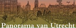 Panorama van Utrecht, Kopen, Bestellen, Inktpot, Illustratie, Uitvouw