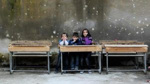 Children's School Room in Aleppo- Reuters Muzaffar Salman