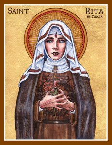 St Rita of Cascia icon by Theophilia
