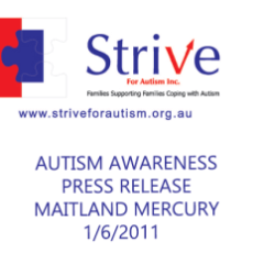 Strive & Hunter Connect Autism Support Groups  | Autism Awareness Press Release