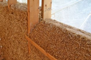 straw bale house Greece - Crete