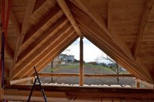 Strohballen einfüllen Dach