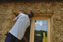 Straw Bale Wrapping in Plank