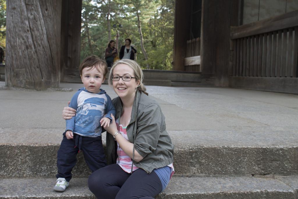 Nara with a toddler