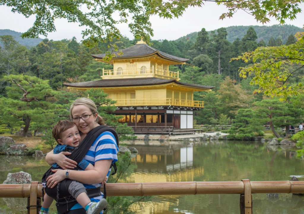 Kinkakuji with toddler