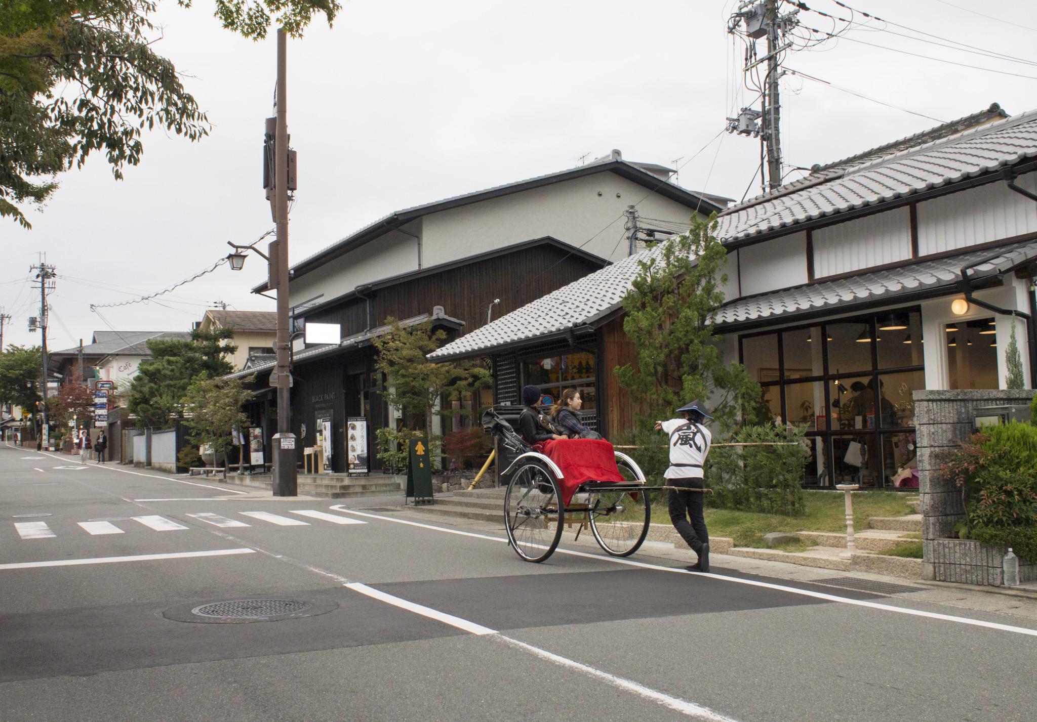 Rickshaw. Arashiyama, Kyoto