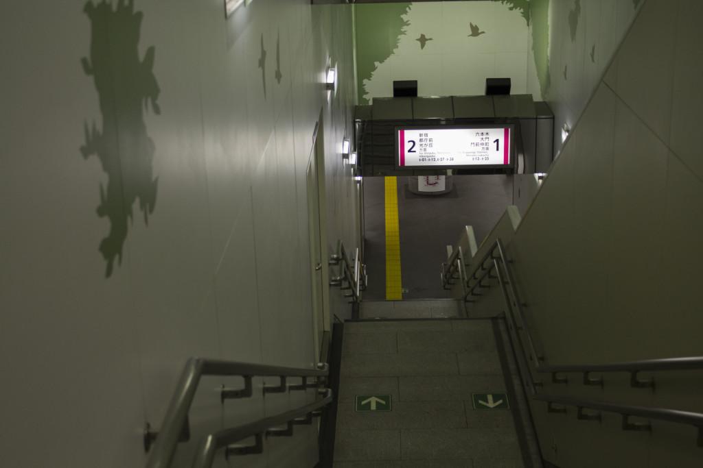 Taking the Oedo subway line