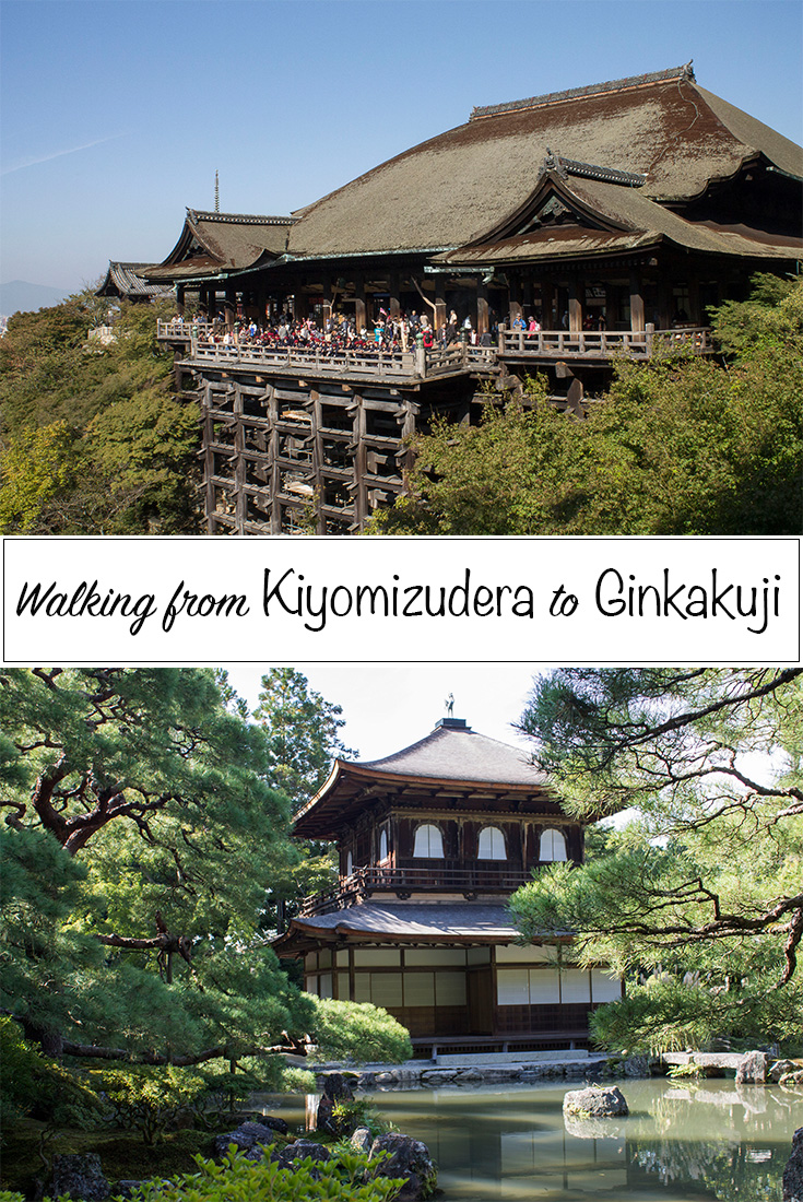 Walking Kiyomizudera to Ginkakuji