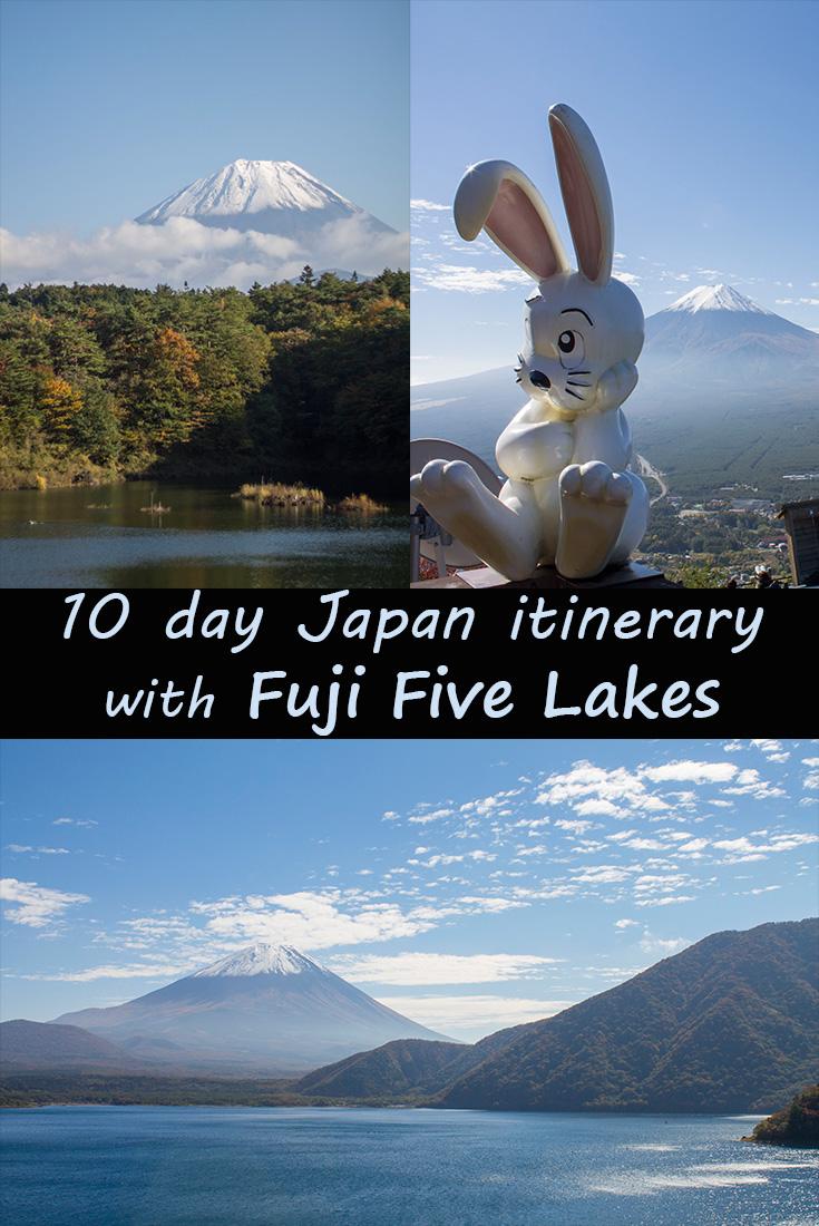 10 day Japan itinerary Fuji Five Lakes