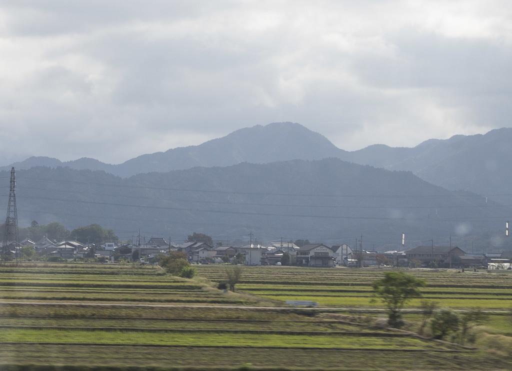 view from shinkansen