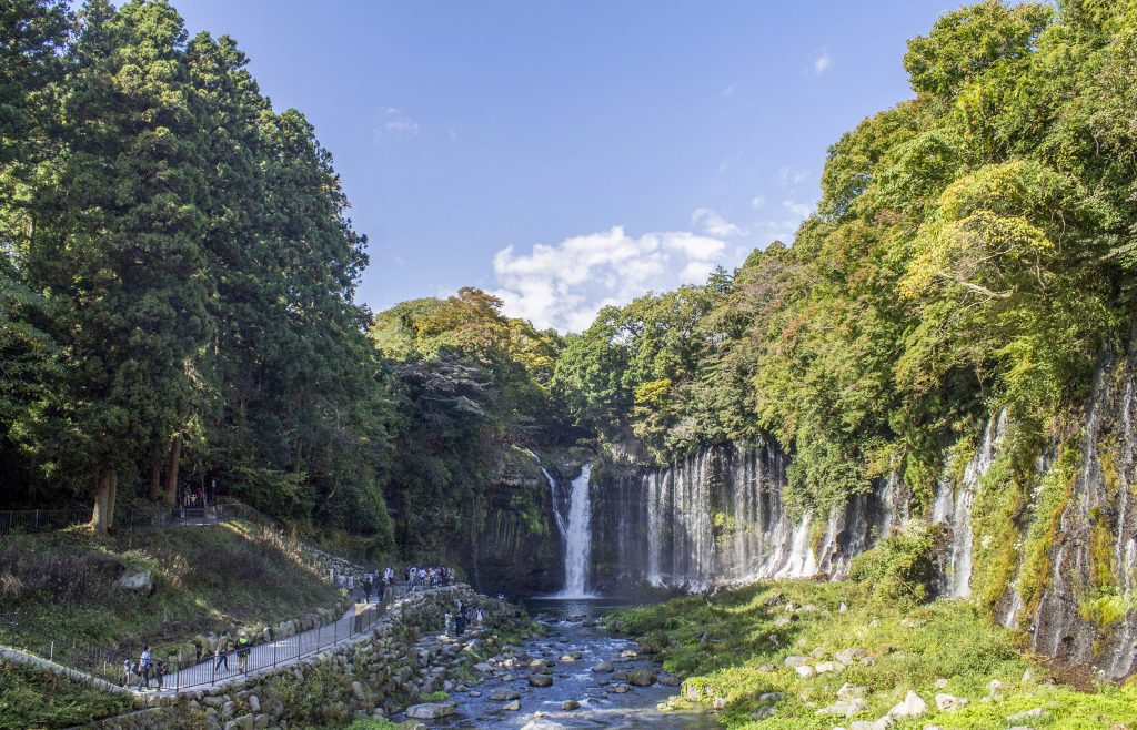 Visiting Shiraito Falls