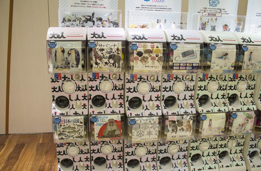 Gachapon machines Japan