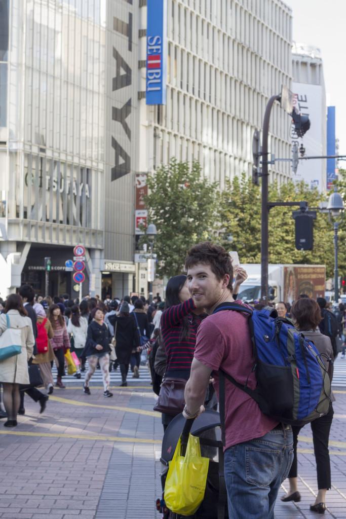 Crossing in Shibuya