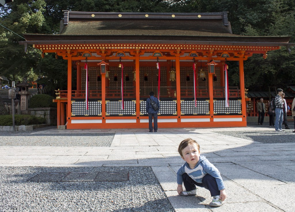 Kyoto with toddler