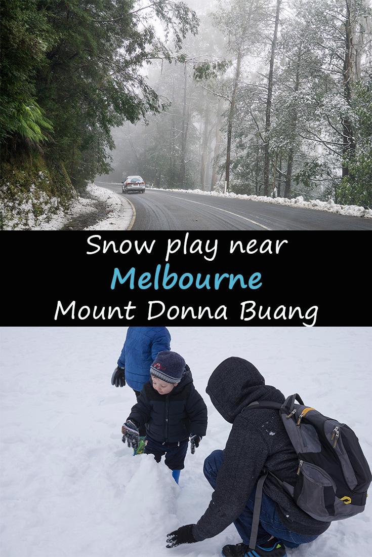 Snow play near Melbourne