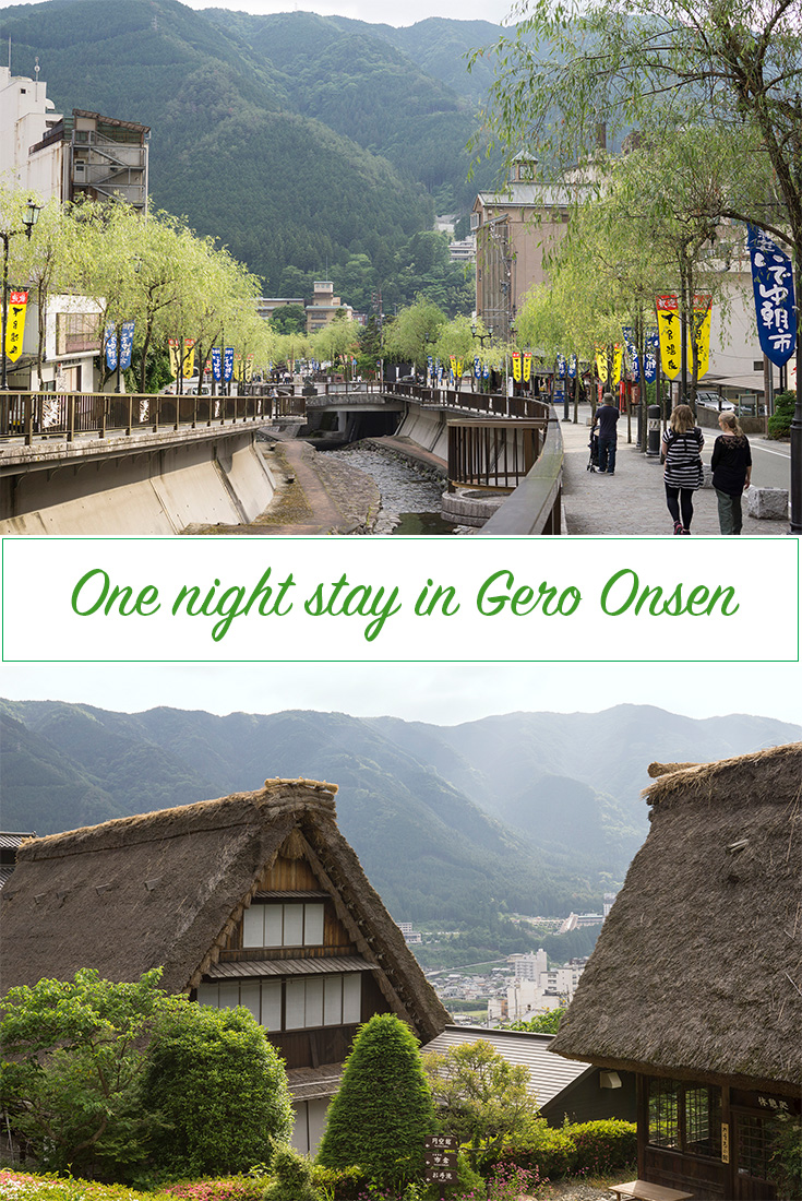One night stay in Gero Onsen