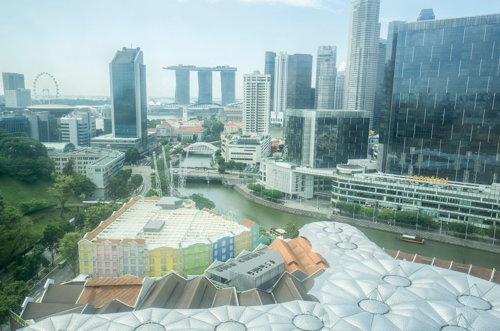 Singapore view from hotel room during family stay