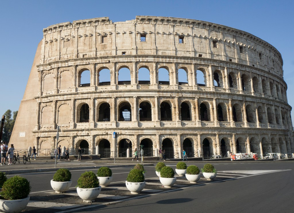 Outside view of Rome Colosseum