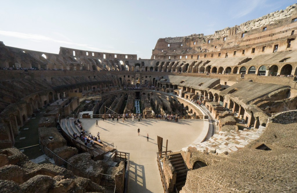 Inside view of Rome Colosseum buy tickets on the day to enter