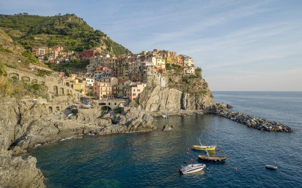 Travel to Cinque Terre and see Manarola