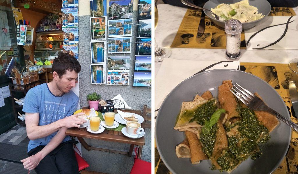 Eating in Corniglia Cinque Terre