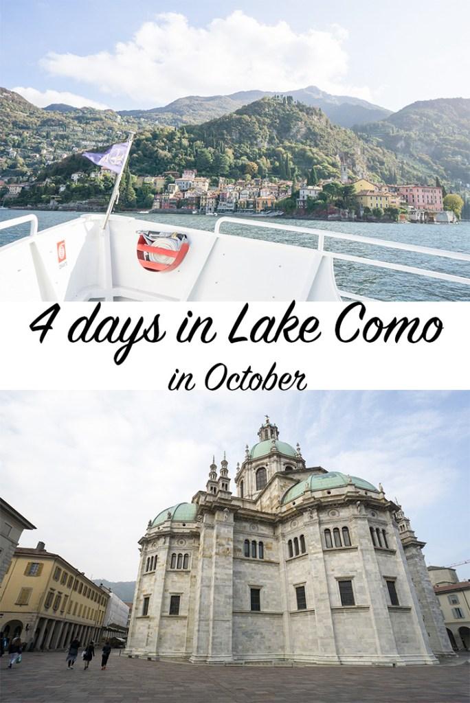 4 days in Lake Como in October