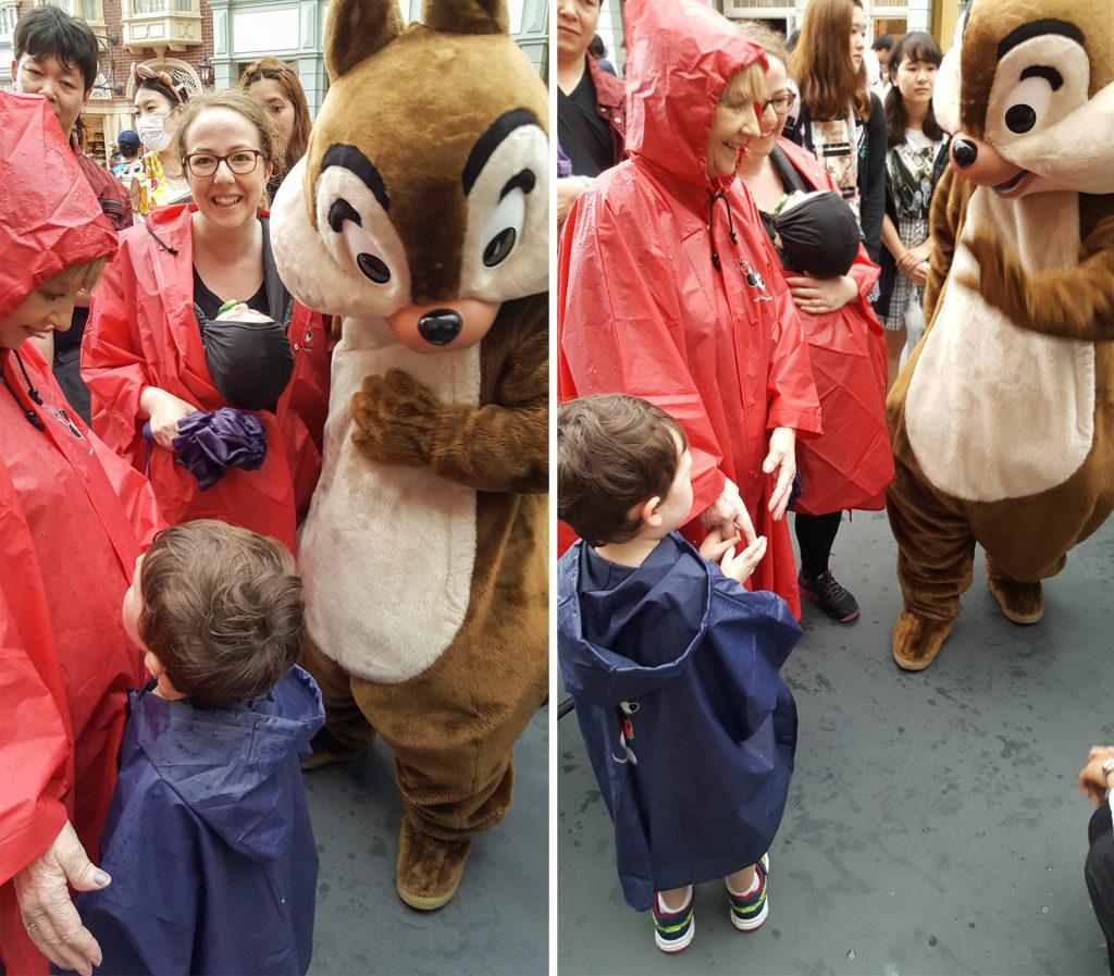 Tokyo Disney in rain